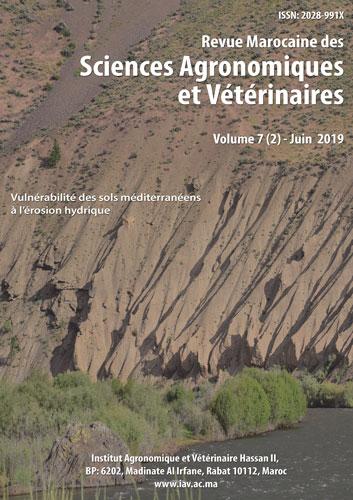 Revue Marocaine des Sciences Agronomiques et Vétérinaires 7(2) – Juin 2019