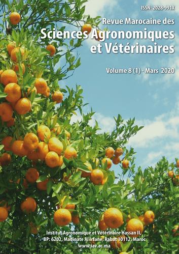 Revue Marocaine des Sciences Agronomiques et Vétérinaires 8(1) – Mars 2020
