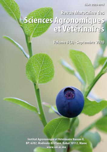 Revue Marocaine des Sciences Agronomiques et Vétérinaires 8(3) – Septembre 2020