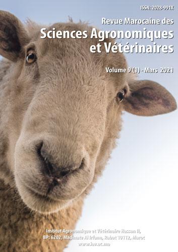 Revue Marocaine des Sciences Agronomiques et Vétérinaires 9(1) – Mars 2021
