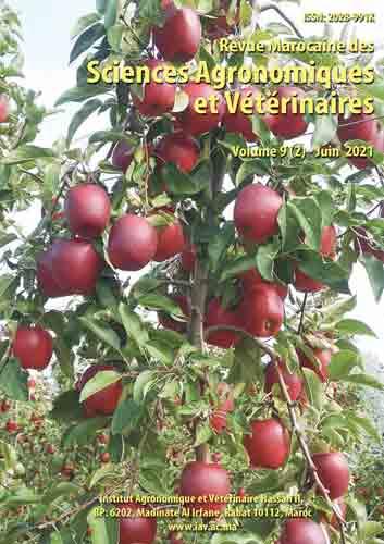 Revue Marocaine des Sciences Agronomiques et Vétérinaires 9(2) – Juin 2021
